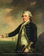 Portrait of Captain Peacock painting reproduction, John Francis Rigaud