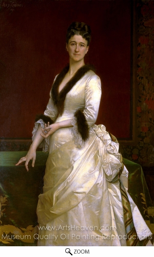 Alexandre Cabanel, Portrait of Catharine Lorillard Wolfe oil painting reproduction