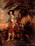 Portrait of Charles I, King of England, Hunting painting reproduction, Sir Anthony Van Dyck