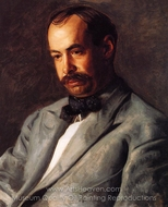 Portrait of Charles Percival Buck painting reproduction, Thomas Eakins