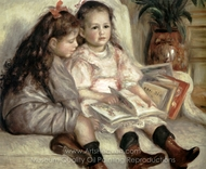 Portrait of Children (The Children of Martial Caillebotte) painting reproduction, Pierre-Auguste Renoir
