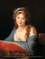 Portrait of Comtesse Catherine Skavronskaia painting reproduction, Louise Elisabeth Vigee Lebrun