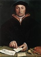 Portrait of Dirk Tybis painting reproduction, Hans Holbein, The Younger