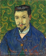Portrait of Doctor Felix Rey painting reproduction, Vincent Van Gogh