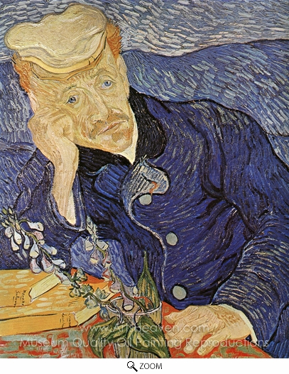 Vincent Van Gogh, Portrait of Doctor Gachet oil painting reproduction