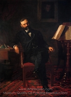 Portrait of Dr. John H Brinton painting reproduction, Thomas Eakins