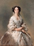 Portrait of Empress Maria Alexandrovna painting reproduction, Franz Xavier Winterhalter