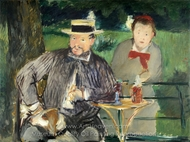 Portrait of Ernest Hoschede and Daughter Martha painting reproduction, �douard Manet