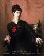 Portrait of Frances Sherborne Ridley Watts painting reproduction, John Singer Sargent
