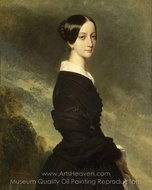 Portrait of Francisca of Brazil, Princess of Joinville painting reproduction, Franz Xavier Winterhalter