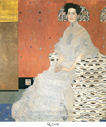 Gustav Klimt, Portrait of Fritza Riedler oil painting reproduction