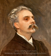 Portrait of Gabriel Faure painting reproduction, John Singer Sargent