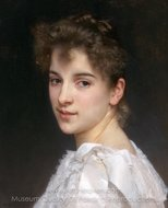 Portrait of Gabrielle Cot painting reproduction, William A. Bouguereau
