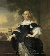 Portrait of Geertruida den Dubbelde painting reproduction, Ludolf Backhuysen