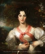 Portrait of Harriott West (later Mrs. William Woodgate) painting reproduction, Sir Thomas Lawrence