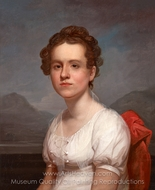 Portrait of Helen Miller painting reproduction, Rembrandt Peale