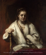 Portrait of Hendrickje Stoffels painting reproduction, Rembrandt Van Rijn