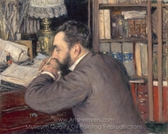 Portrait of Henri Cordier painting reproduction, Gustave Caillebotte