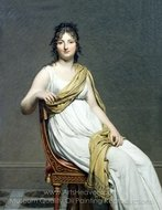 Portrait of Henriette de Verninac painting reproduction, Jacques-Louis David