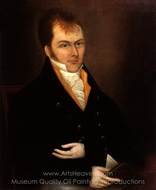 Portrait of Henry Long painting reproduction, Joshua Johnson