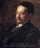 Portrait of Henry Ossawa Tanner painting reproduction, Thomas Eakins