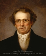 Portrait of Henry Robinson painting reproduction, Rembrandt Peale