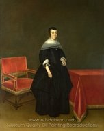 Portrait of Hermanna van der Cruis painting reproduction, Gerard Ter Borch