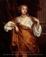 Portrait of Hon Mary Wharton painting reproduction, Sir Peter Lely