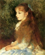 Portrait of Irene Cahen of Antwerp painting reproduction, Pierre-Auguste Renoir