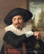 Portrait of Isaac Abrahamsz. Massa painting reproduction, Frans Hals