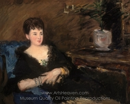 Portrait of Isabelle Lemonnier painting reproduction, �douard Manet