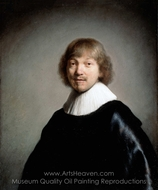 Portrait of Jacob de Gheyn (III) painting reproduction, Rembrandt Van Rijn