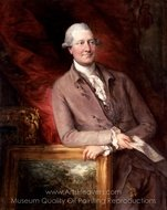 Portrait of James Christie painting reproduction, Thomas Gainsborough