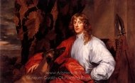 Portrait of James Stuart, Duke of Lennox and Richmond painting reproduction, Sir Anthony Van Dyck