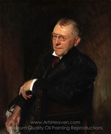 Portrait of James Whitcomb Riley painting reproduction, John Singer Sargent