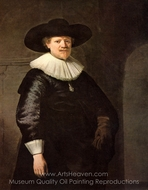 Portrait of Jan Harmensz. Krul painting reproduction, Rembrandt Van Rijn