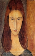 Portrait of Jeanne Hebuterne painting reproduction, Amedeo Modigliani