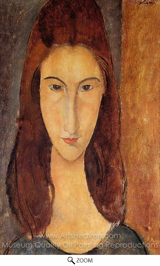 Amedeo Modigliani, Portrait of Jeanne Hebuterne oil painting reproduction