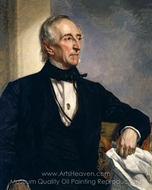 Portrait of John Tyler painting reproduction, George P. A. Healy