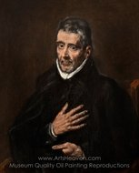 Portrait of Juan de Avila painting reproduction, El Greco