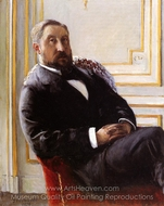 Portrait of Jules Richemont painting reproduction, Gustave Caillebotte