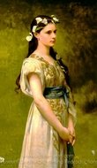 Portrait of Julia Foster Ward painting reproduction, Jules Joseph Lefebvre