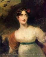 Portrait of Lady Emily Harriet Fitzroy painting reproduction, Sir Thomas Lawrence