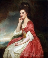 Portrait of Lady Grantham painting reproduction, George Romney