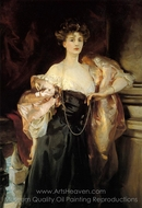 Portrait of Lady Helen Vincent, Viscountess d'Abernon painting reproduction, John Singer Sargent