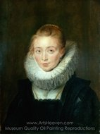 Portrait of Lady in Waiting to the Infanta Isabella painting reproduction, Peter Paul Rubens