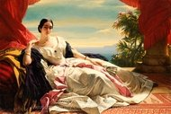 Portrait of Leonilla, Princess of Sayn-Wittgenstein-Sayn painting reproduction, Franz Xavier Winterhalter