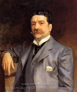 Portrait of Louis Alexander Fagan painting reproduction, John Singer Sargent
