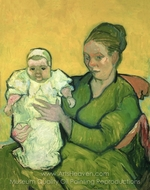 Portrait of Madame Augustine Roulin and Baby Marcelle painting reproduction, Vincent Van Gogh