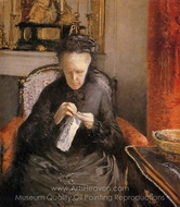 Portrait of Madame Caillebotte, the Artist's Mother painting reproduction, Gustave Caillebotte